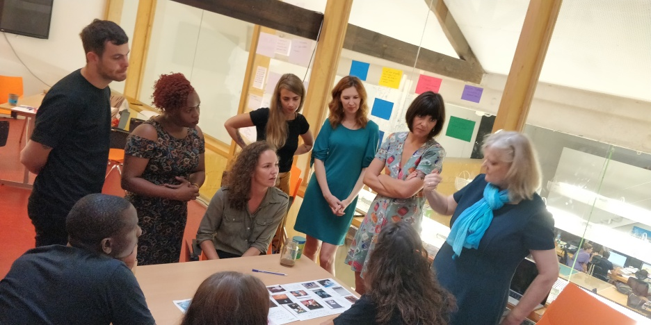 Julie (centre) took part with the team, setting the tone of frankness and trust